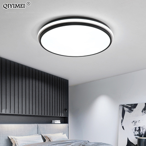 Image 5 - 새로운 현대 LED 천장 조명 거실 원격 제어 디 밍 다이닝 룸 침실 화이트와 블랙 조명 조명