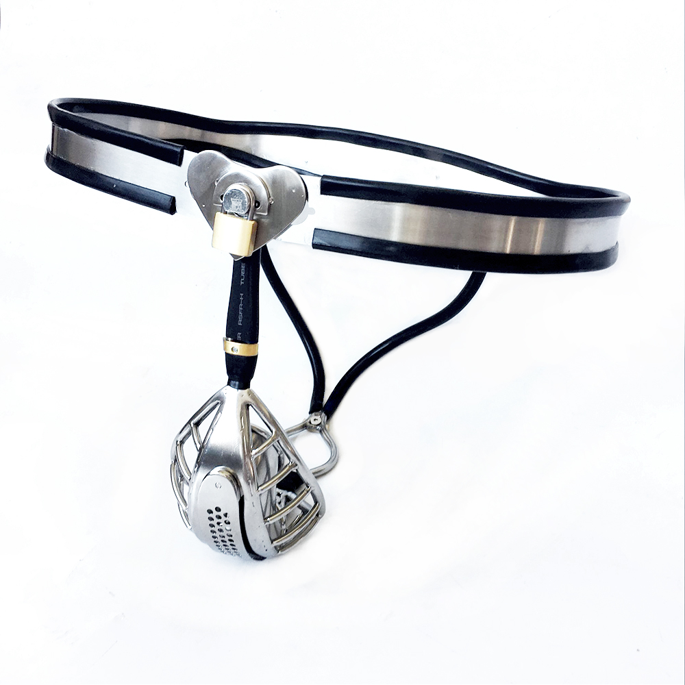 купить Stainless Steel Male Chastity Belt Cock Cage Scrotum Bondage Male Chastity Devices Penis Ring Cbt Toys For Men Chastity Cage недорого