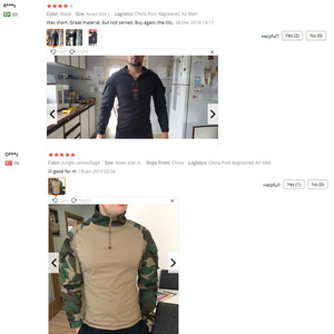 Image 5 - TACVASEN Camouflage T shirts Men Army Combat Tactical T Shirt Male Airsoft Military Clothing Long Sleeve Cotton Assault T Shirts