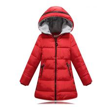 2016 new Girls Winter Coat Thicken Warm Cotton Padded Hooded Kids Winter jacket for girls clothes Children clothing Parkas girl
