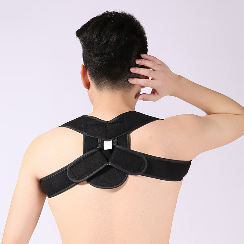 Adjustable Shoulder Back Brace Support Posture Corrector Humpback Straightener Belt Butterfly Shaped Vertebra Correct Therapy free size o x form legs posture corrector belt braces