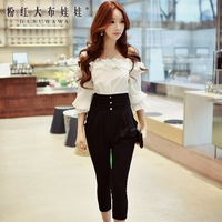 original 2017 new siamese pants spring ladies slash neck fashion sexy casual high waist jumpsuits women wholesale