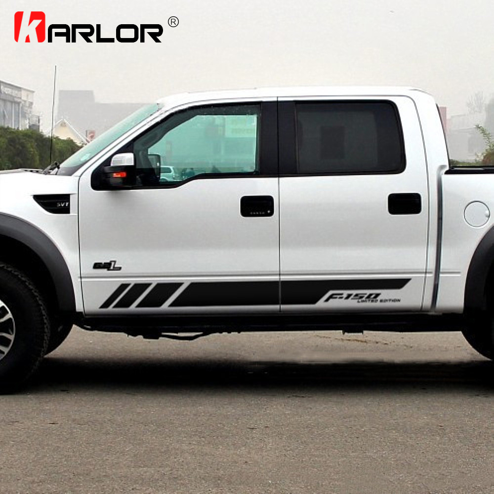 1 Pair Auto Car Both Sides Stickers Decal Decoration Car Accessories For Ford RANGER Raptor F150 F250 F350 F450 F550 F650 Pickup
