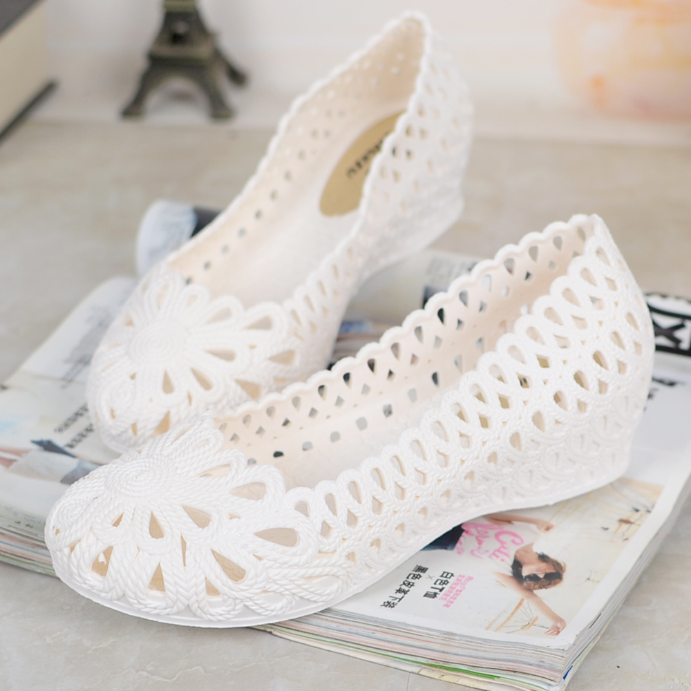 New Jelly Sandals Summer Shoes Soft Woman Wedges Gladiator Sandals Casual Nest Platform Shoes Woman Plus Size 36-40 2e13 bohemia plus size 34 41 new fashion wedges sandals slip on elastic band casual platform shoes woman summer lady shoes shallow