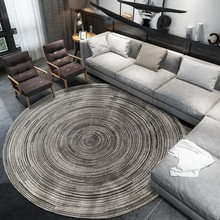 Скандинавские абстрактные коралловые бархатные круглые ковры для гостиной, спальни, коврик для компьютерного кресла, детский игровой коврик