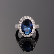 R&X New Luxury Sets Gem Zircon Ring For Women Stainless Steel Ring Engagement Ring