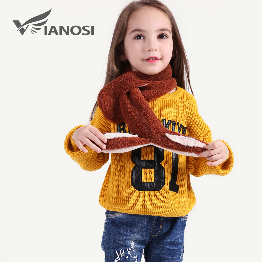 VIANOSI Fashion Baby Scarf Winter Faux Fur Kids Scarves Girl Thick Warm Scarf CH012