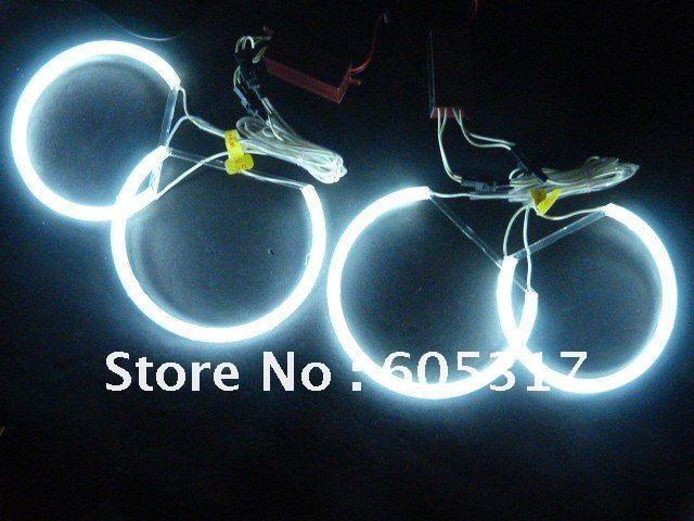 Free shipping 1 pair CCFL led angel eyes car light Led headlight kits for  E46 non-projector