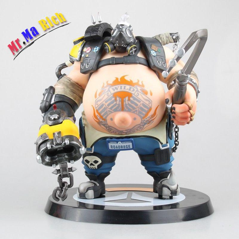 Ow Heroes Roadhog Pig Mako Rutledge Action Figure Collectible all characters tracer reaper widowmaker action figure ow game keychain pendant key accessories ltx1