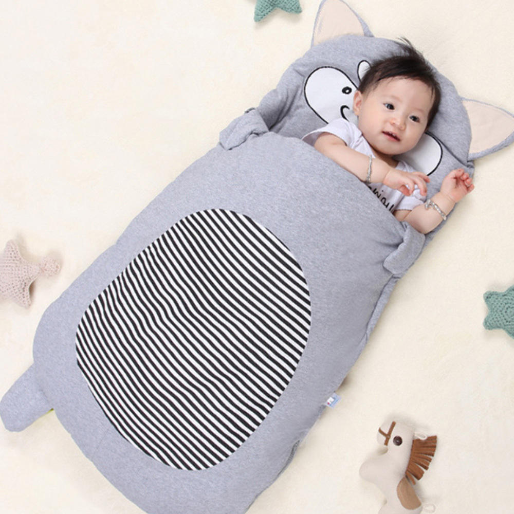 Baby Sleeping Bag Baby Anti-kick Soft Cotton Thick Blanket Winter Cartoon Animals Kids Sleeping Bags Outdoor Baby Stroller Quilt