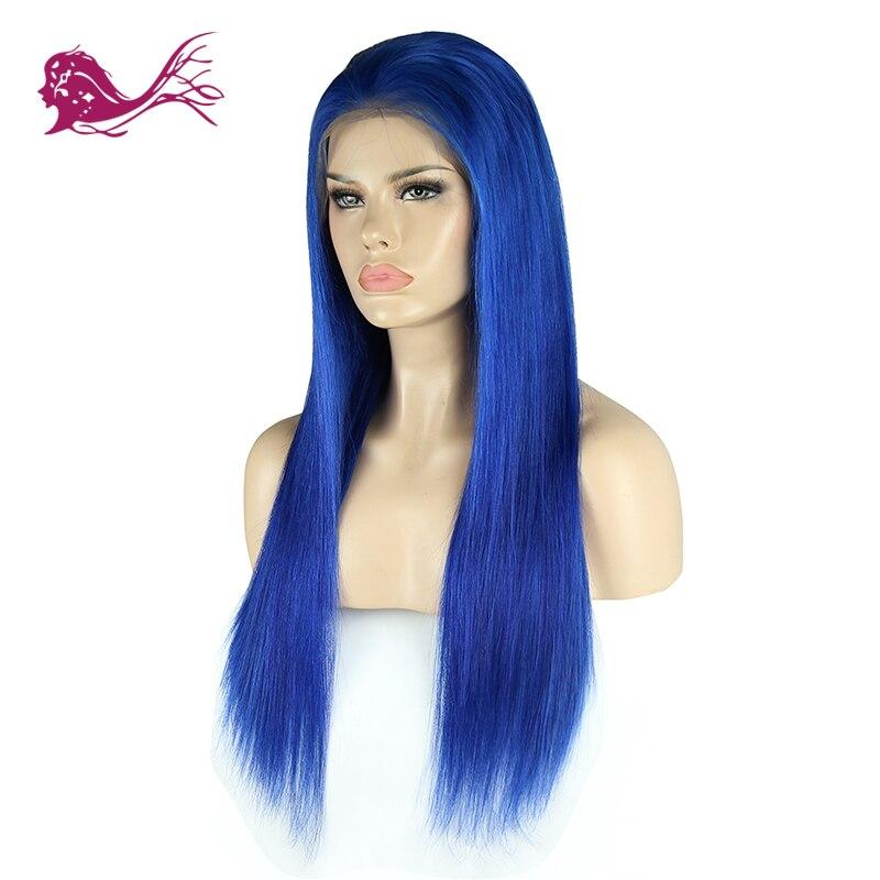Eayon Hair Blue Brazilian Straight Full Lace Human Hair