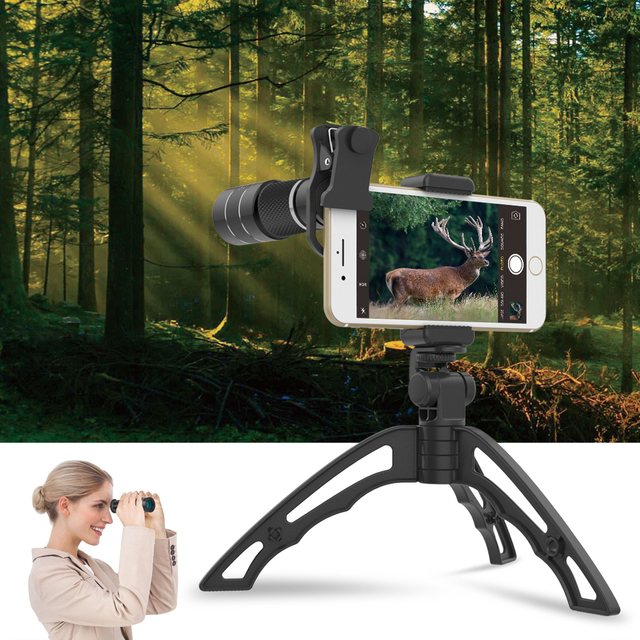 APEXEL Optical Telescope lens 20x telephoto monocular lentes with selfie tripod monopod for iPhone Samsung Smartphones Hunting 5