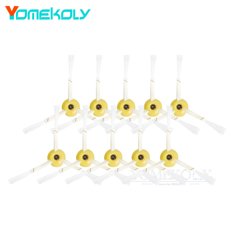 10pcs Side Brush 3-armed for iRobot Roomba 800 900 Series 870 880 980 Robotic Vacuum Parts Cleaner Accessories replacement filters side brush for irobot roomba 800 series 870 880 980 robotic vacuum parts side brushes 3 armed cleaning tool