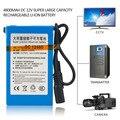 Tamaño compacto DC12V 4800 MAH Super Gran Capacidad de Uso Durable Batería Recargable de Ion de Litio Para la Cámara de CCTV