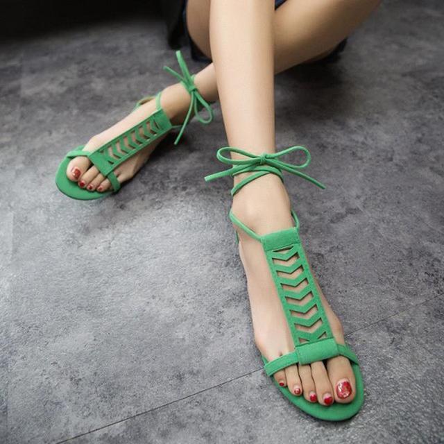 DreamShining Verão Tiras Cruzadas Moda Plana Botas Legais Sapatos Sandálias Romanas de Estilo Coreano Correas Cruzadas Carregadores Frescos