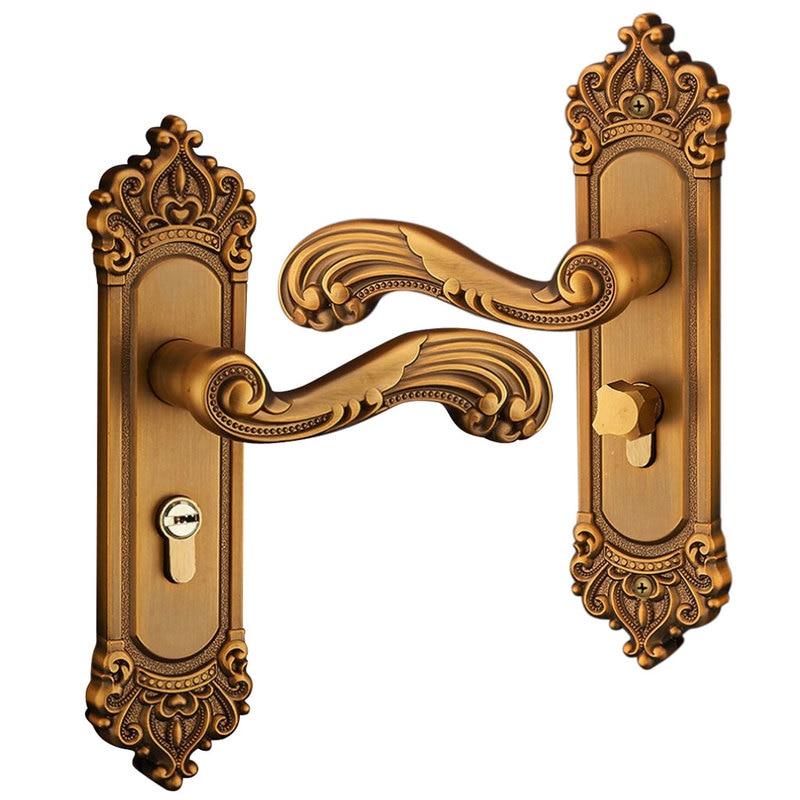 Universal door handle Lockset lever Thickened Panel Solid privacy Entry Split Silent Lock for Bedroom Indoor