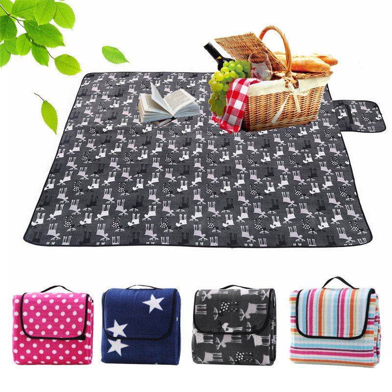 200 200cm Foldable Outdoor Camping Mat Picnic Mat Pad Blanket Baby Play Crawling Mat Waterproof Beach Blanket Tent Pad Mat in Camping Mat from Sports Entertainment
