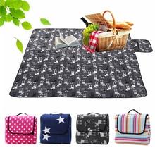 цены на 200*200cm Foldable Outdoor Camping Mat Picnic Mat Pad Blanket Baby Play Crawling Mat Waterproof Beach Blanket Tent Pad Mat  в интернет-магазинах