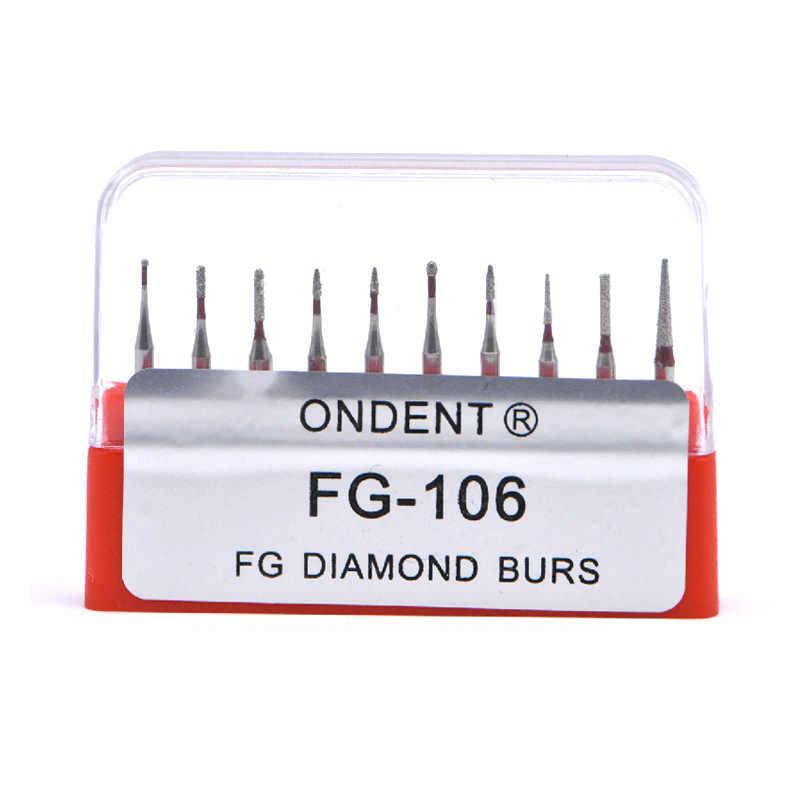 Dental FG burs set sprzęt dentystyczny sprzęt dentystyczny laboratorium niska prędkość diamentowe polerowanie szlifowanie wiertarko-szlifierka bity obrotowe