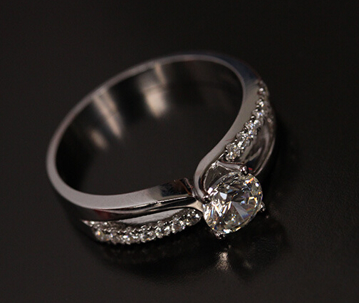 Free Shipping pt luxury quality trendy solitare ct moissanite anniversary wedding ring