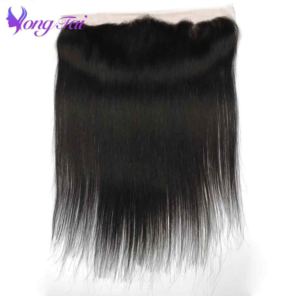 YuYongtai Hair Ear to Ear Lace Frontal Closure 13X4 Brazilian Straight Human Hair Free Part Remy Nature Black Free Shipping
