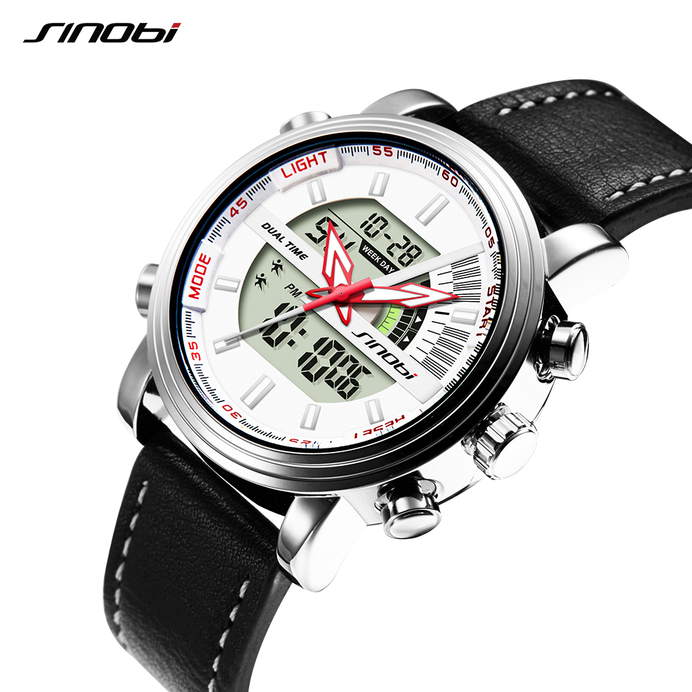SINOBI Digital Watch Clock Chronograph Quartz Military Running Men's Relogio Man Sport
