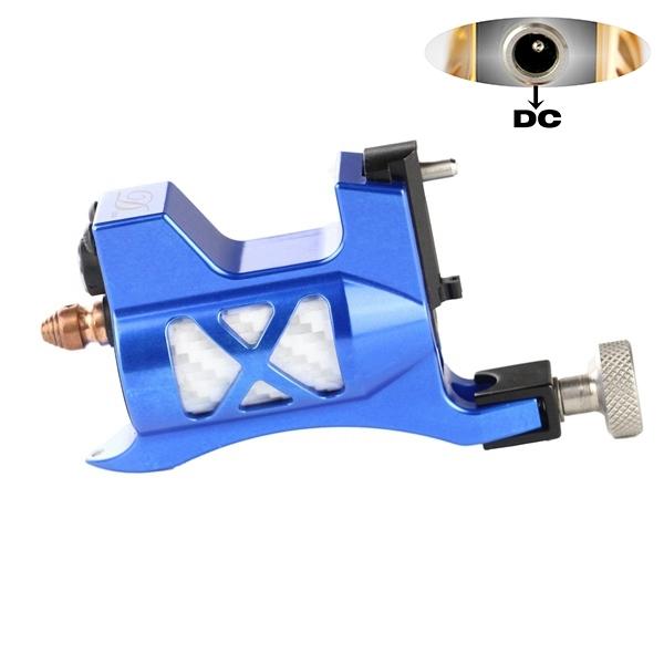 Top quality Microfone Rotativo Máquina De Tatuagem Melhor Suíço Motor Metralhadoras Tattoo azul Material de Alumínio Frete Grátis 5204