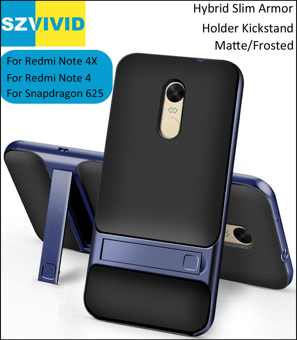 Stand Holder Kickstand Case for Xiaomi Redmi Note 4X Hybrid Slim Armor Protector Cover Note 4 5.5 inch