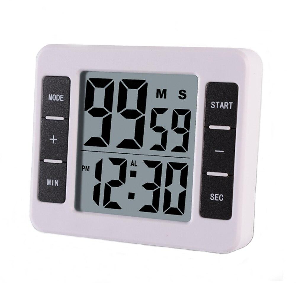 Magnétique LCD Numérique Cuisine Cuisine Minuterie avec Réveil Count Up Compte À Rebours Minuterie Rappel 99 minutes et 59 secondes