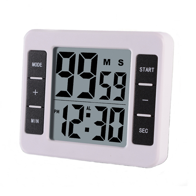 Magnetic Lcd Digital Kitchen Co Ng Timer With Alarm Clock Count Up Countdown Timer Reminder 99 Minutes And 59 Seconds