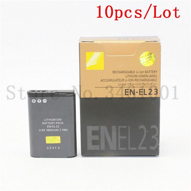 10pcs lot EN EL23 EN EL23 Battery Batteries For Nikon Coolpix S810c P900 P900s P610 P600