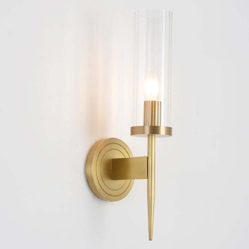 American Copper Wall Lamps Living Room Wall Sconce Bedroom Bedside Lamp Modern led Wall Light Bathroom Light Simple Stairs Light|Wall Lamps| |  - title=