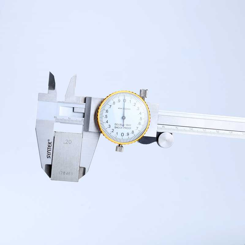 "0.01 Mm Dial Vernier Caliper Shock-Proof 0-150 Mm Stainless Steel Dial Caliper 6 ""Mortise Gauge alat Ukur Vernier Caliper"