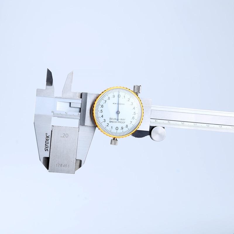 0.01 mm Dial Vernier Caliper Shock-proof 0-150 mm Stainless Steel Dial Calipers 6 Metric Gauge Measuring Tool Vernier Caliper