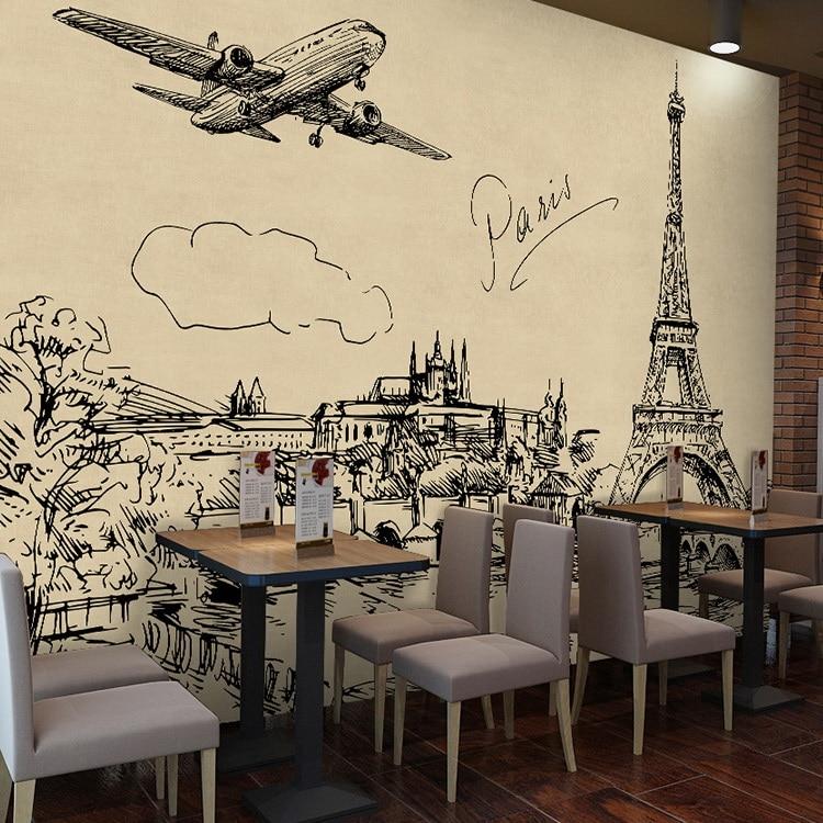 Retro Nostalgic 3d Wall Mural Wallpapercity Street Scene