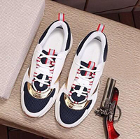 Men's Canvas And Calfskin Trainers Fashion New Sneakers B22 Trainer Technical Knit Shoes