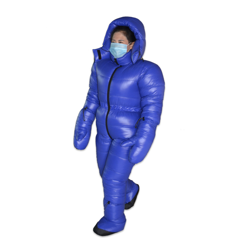 High Quality New Arrival 3000G White Goose Down Filling Winter Down Suit Warm Clothing Conjoined Down Jacket