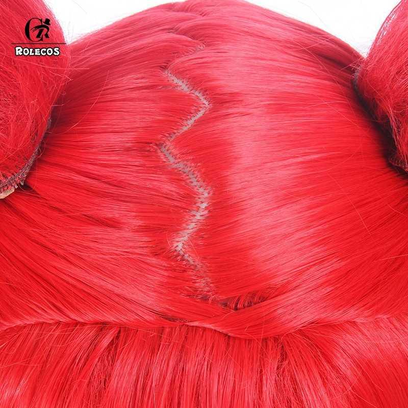 Головной убор ROLECOS LOL Jinx, Синтетический волос для косплея, волшебная девушка, 100 см/39,37 дюйма, синтетические волосы, красное жару