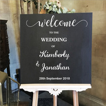 Custom Personalized Name welcome to Wedding Decal Sign Design Sticker Date Ornament Beauty Fashion Weeding W16