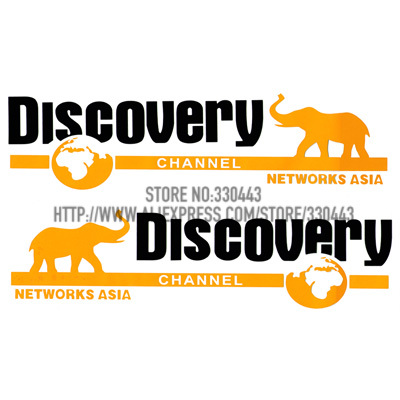 1 Pair DISCOVERY Sticker on Car DOOR Car decoration sticker reflective sticker Car decal sticker for all cars