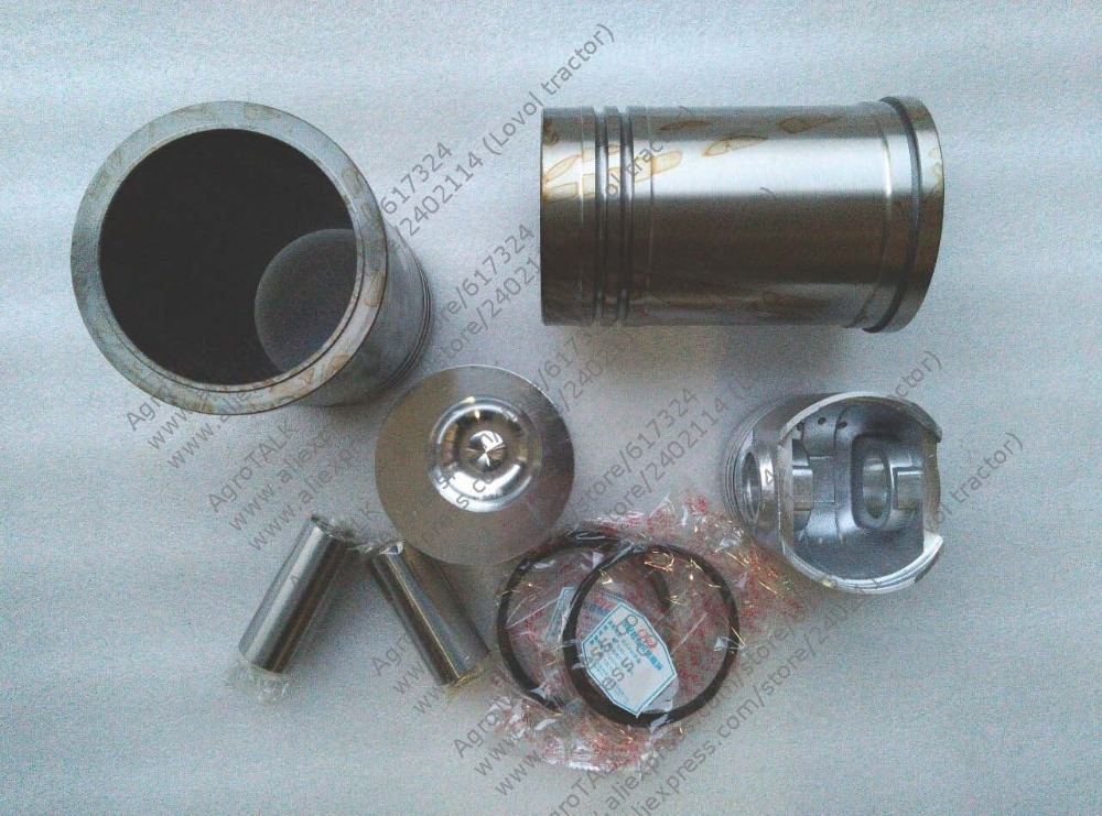 Xinxiang TY295X the piston group: including the piston, pin, piston rings, cylinder liner and water sealing ring for one engine quanchai qc4102t52 parts the set of piston and piston rings part number 4102qa 03001