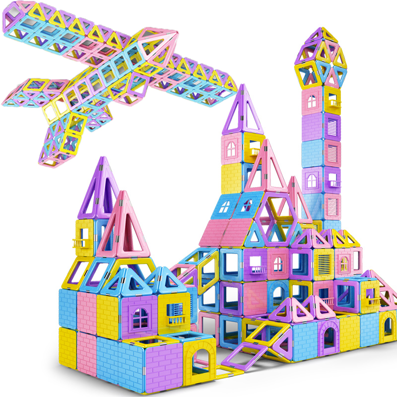 81 137PCS Kids Magnetic Blocks Construction Enlighten Assembly Building Blocks Toys Kids Educational DIY Plastic Technic