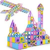 81-137PCS 어린이 자석 블록 건설 Enlighten 어셈블리 빌딩 블록 장난감 어린이 교육 DIY 플라스틱 기술 벽돌