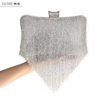 Quaste Diamant Frauen Abendtasche Handtasche Marke Abendtaschen Fashion Gold Handtasche Bolsa Feminina Silber Weiß Schwarz SMYCWL-E0022