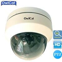 OWLCAT SONY 1080P Mini CMOS Indoor Outdoor Security CCTV Dome PTZ IP Camera 3X OpticaL ZOOM