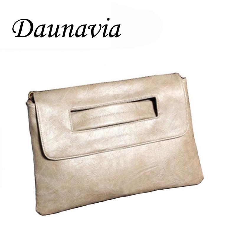DAUNAVIA Women Envelope Clutch Bag PU Leather Women Crossbody Bags Women Trend Handbag Messenger Bag Clutches