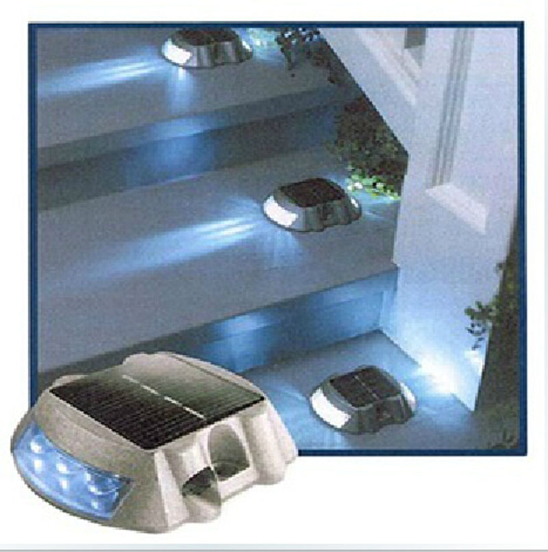 10 STKS Solar pathway LED marker wit licht oprit road tuin zwembad ...