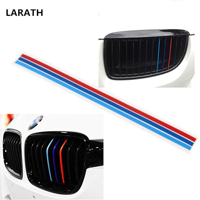 Pegatina decorativa para parrilla de coche BMW, tira de vinilo de 3 colores, para modelos M3, M5, E36, E46, E60, E90 y E92