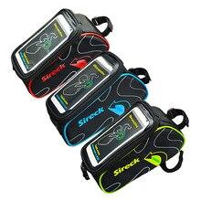 จักรยานกระเป๋าด้านหน้าจักรยานเสือภูเขาจักรยานอานกระเป๋ากรอบด้านบนกระเป๋า สี 6.0 ''โทรศัพท์กรณีอุปกรณ์จักรยาน