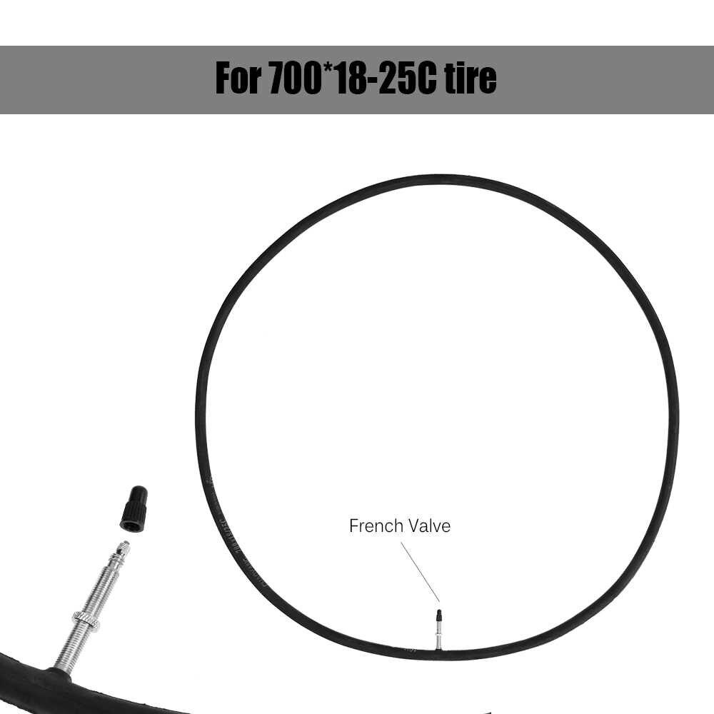 700 * 18-25C Fietsen Fiets Inner Tyre Fixie Bike Cycling Band Fixed Gear Buis Rubber Fiets Binnenband Franse valve Road